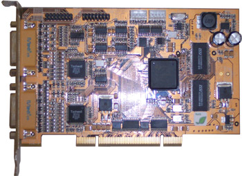 8ch Hikvision Hardware Compression DVR Card: DS-4008HSI