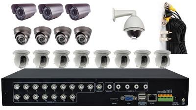 16Cam CCTV DVR System: HK-H5016F-kit