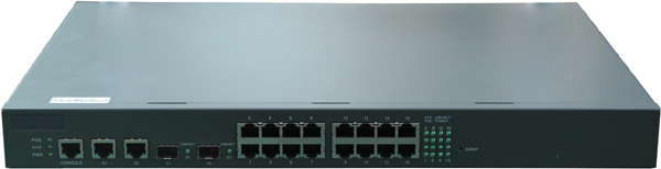 18-PORT 10/100 SWITCH WITH 16-PORT POE: POE3116P