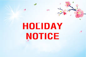 29 Sep., to 5 Oct., 2008,National Holidays Notify